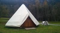 les tipis du camping-automne